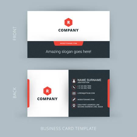 бизнес: Вектор Современные Творческий и чистой шаблон визитной карточки Иллюстрация