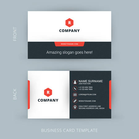 contacts: Vector Modern Creative and Clean Business Card Template Illustration
