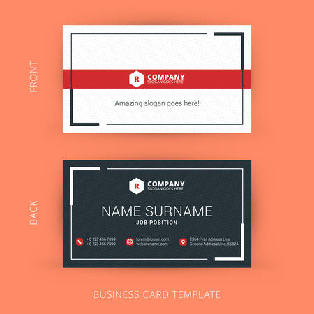 Vector Modern Creative and Clean Business Card Template  イラスト・ベクター素材