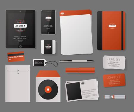 Modèle de Corporate Identity Template Vector avec logo