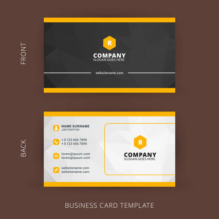 material: Creative and Clean Vector Business Card Template