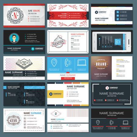 Set of Modern Creative Business Card Templates Illustration