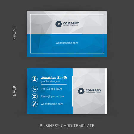 business card layout: Creative and Clean Vector Business Card Template