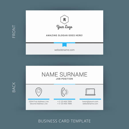 a card: Creative and Clean Vector Business Card Template