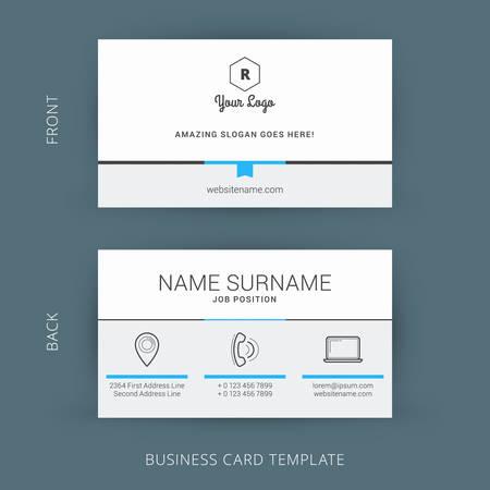 Kreative und saubere Vektor Visitenkarten Standard-Bild - 42265862