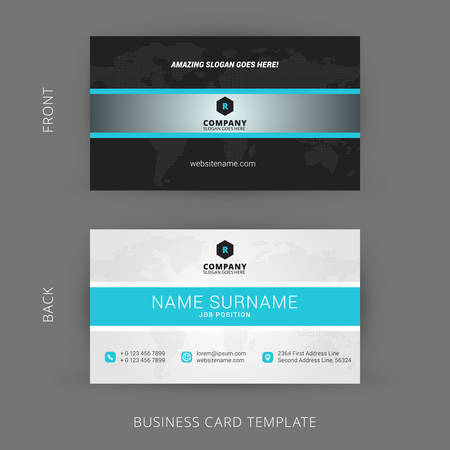 business card template: Creative and Clean Vector Business Card Template