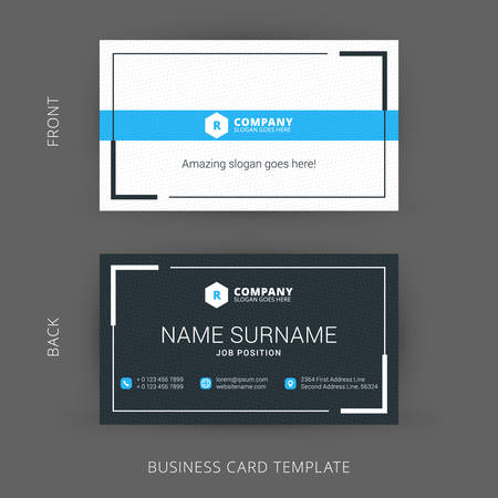 my name is: Creative and Clean Vector Business Card Template