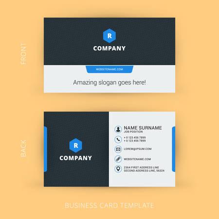 크리에이티브 및 청소 벡터 비즈니스 카드 템플릿