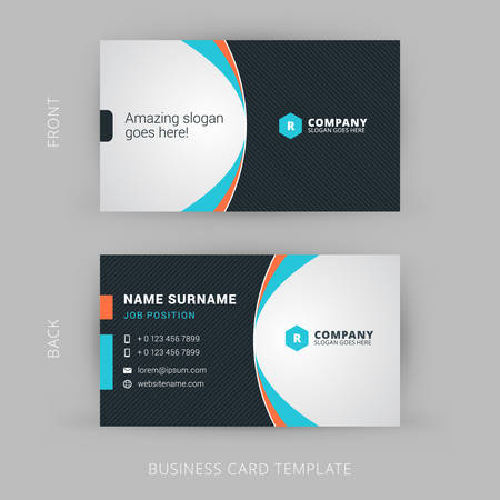 simple background: Creative and Clean Vector Business Card Template