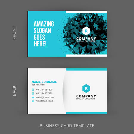 name template: Creative and Clean Vector Business Card Template