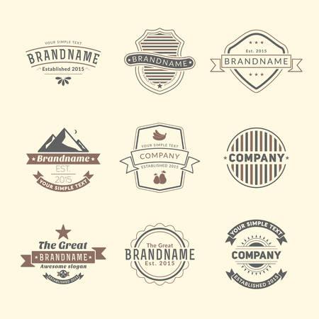 logotypes: Set of Hipster Vintage Labels, Logotypes, Badges for Your Business Illustration