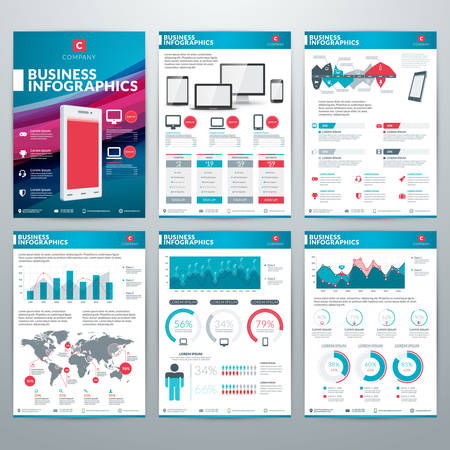 visualization: Infographics Vector Concept. Set of Business Infographic Design Elements for Data Visualization