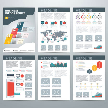 information technology logo: Infographics Vector Concept. Set of Business Infographic Design Elements for Data Visualization