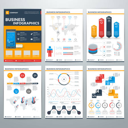 layout design template: Infographics Vector Concept. Set of Business Infographic Design Elements for Data Visualization