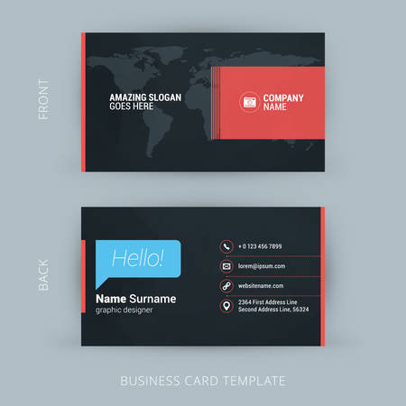 Vector Modern Creative and Clean Business Card Template. Flat Design 版權商用圖片 - 44049095