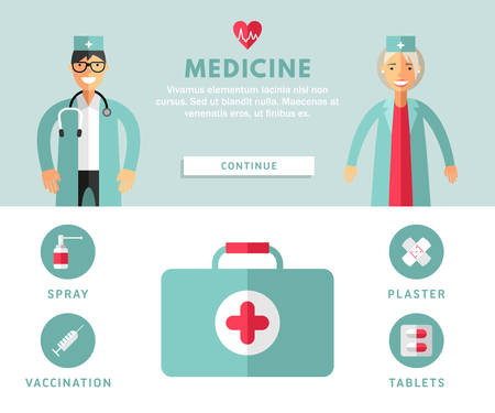 smile face: Flat Design Concepts for Web Banners and Promotional Materials. Medicine