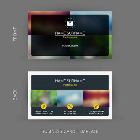 Creative and clean business card template for photographer or creative and clean business card template for photographer or graphic designer stock vector 44711438 accmission Gallery