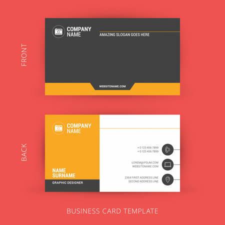 創造的なビジネス カードのテンプレートです。フラットなデザイン