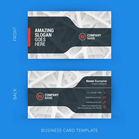 光の抽象的な背景を持つ創造的なビジネス カード テンプレート