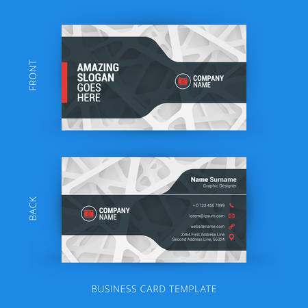 business card template: Creative and Clean Business Card Template with Abstract Light Background