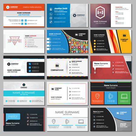 visits: Set of Modern Creative and Clean Business Card Templates