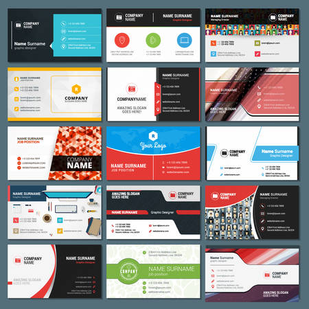 Set of Modern Creative and Clean Business Card Templates 免版税图像 - 44989820