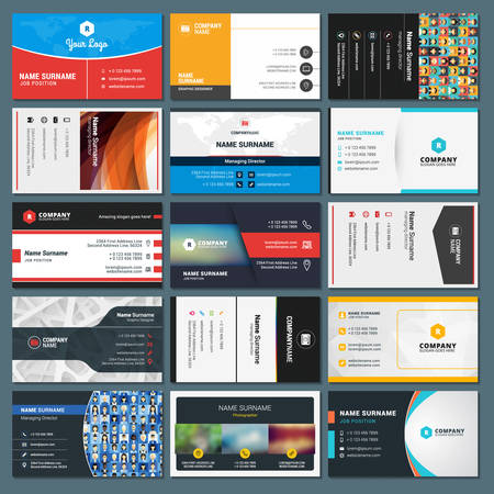 identification card: Set of Modern Creative and Clean Business Card Templates
