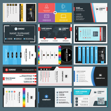 Set of Modern Creative and Clean Business Card Templates