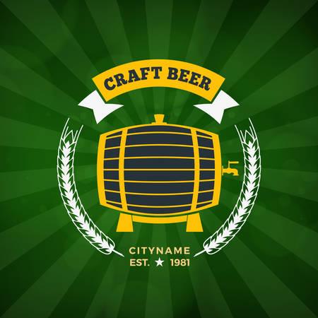 brewery: Retro Vintage Design Element for Brewery Badge, Logotype, Label. Vector Illustration Illustration