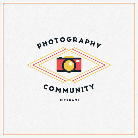 photography logo: Vector Photography Logo Design Template. Retro Badge or Label.  Photography Community