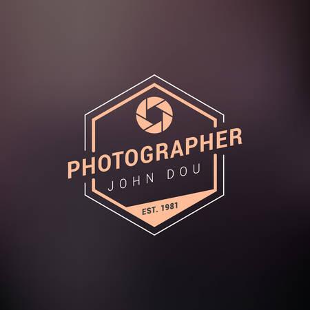 Vector Photography Logo Design Template. Retro Badge or Label.  Photographer