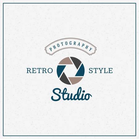 photography logo: Vector Photography Logo Design Template. Retro Badge or Label.  Retro Photo Studio