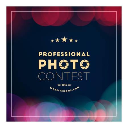 premios: Fotograf�a de la insignia del vector plantilla de dise�o. Insignia retra o Etiqueta. Concurso de fotografia Vectores