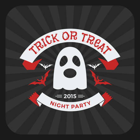 Retro Vintage Happy Halloween Badge. Night Party. Vector Illustration Stock  Vector   45858681