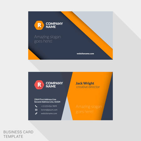 my name is: Vector Design Modern Creative and Clean Business Card Template. Flat Design Vector Illustration