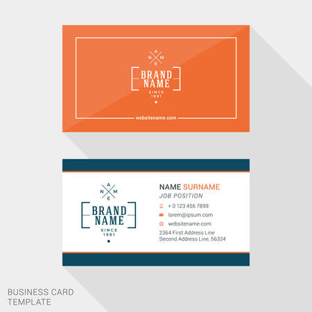 business people: Vector Design Modern Creative and Clean Business Card Template. Flat Design Vector Illustration