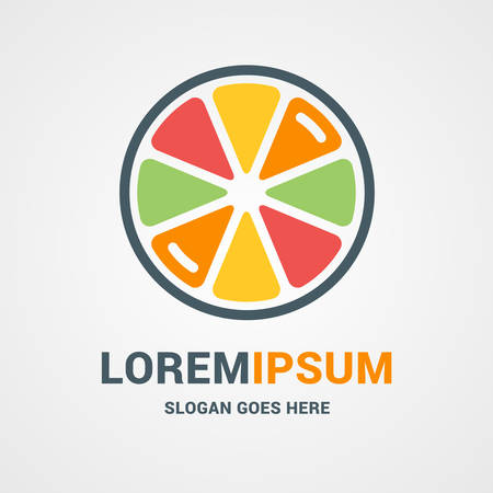 lemon lime: Vector Logo Template. Fresh Orange, Lemon, Lime, Grapefruit Juice Concept Logo