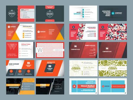 personalausweis: Set moderne kreative und saubere Visitenkarte-Entwurf Druckvorlagen. Flat Style Vector Illustration Illustration