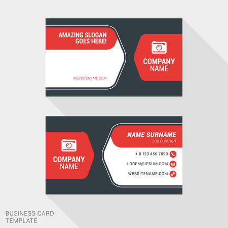 surname: Creative and Clean Business Card Vector Print Template. Flat Style Vector Illustration. Stationery Design Illustration