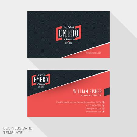 Creative business card print template flat design vector creative business card print template flat design vector illustration stationery design vector colourmoves