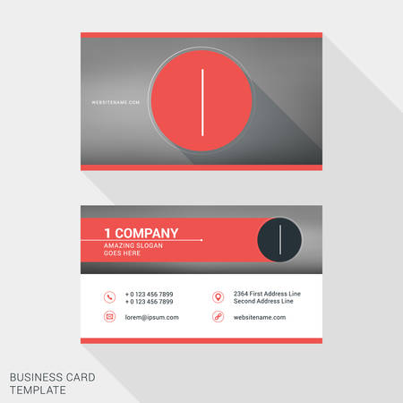 Creative and clean business card or name badge template logotype creative and clean business card or name badge template logotype number 1 flat design fbccfo Image collections