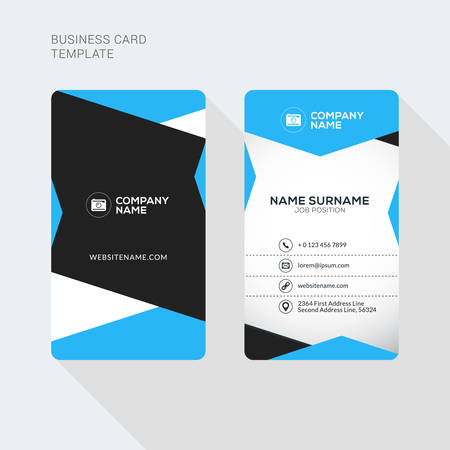 Modern creative and clean two sided business card template flat modern creative and clean two sided business card template flat style vector illustration vertical cheaphphosting Image collections