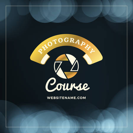 wedding photography: Photography Design Template. Photography Retro Golden Badge. Wedding Photography. Photo Studio. Camera Shop. Photography Community Illustration
