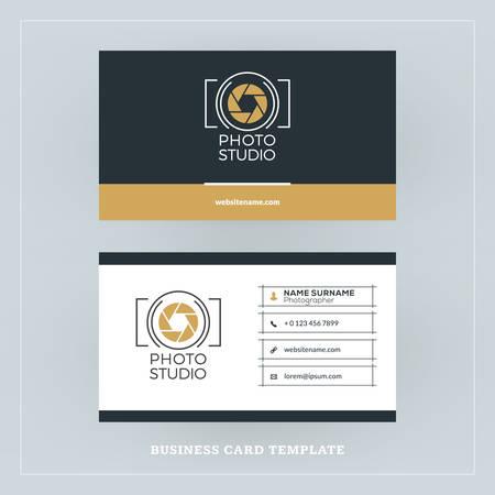 Goldene Und Schwarze Visitenkarte Design Vorlage
