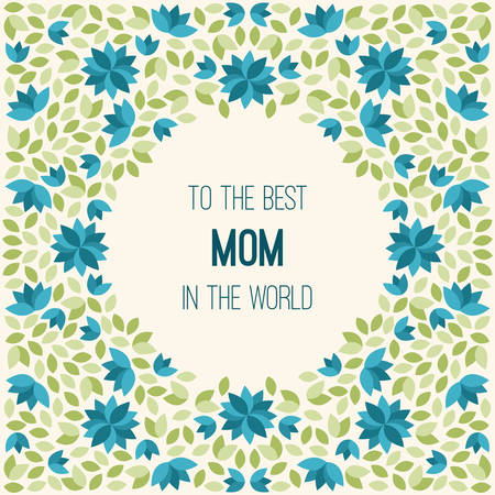 foster: Happy Mothers Day. Hand-drawn Greeting Card with flowers. Vector Illustration