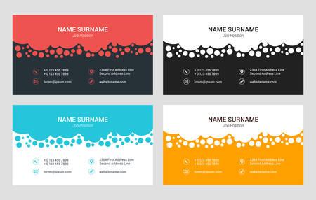 Creative business card template flat design vector illustration business card vector template flat style vector illustration stationery design 4 color combinations colourmoves Choice Image