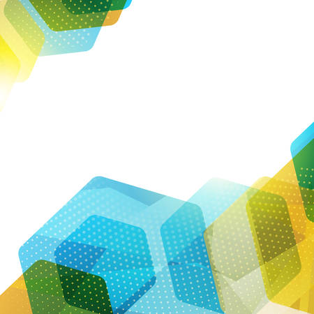 Abstract hexagon geometric colorful vector background. Vector illustration