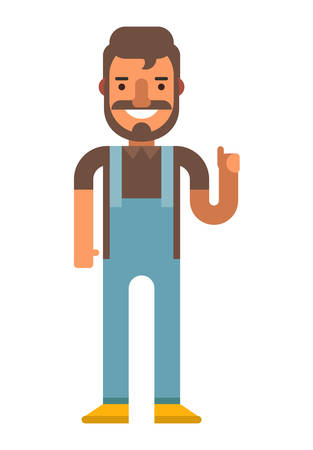 dungarees: Hipster Illustration