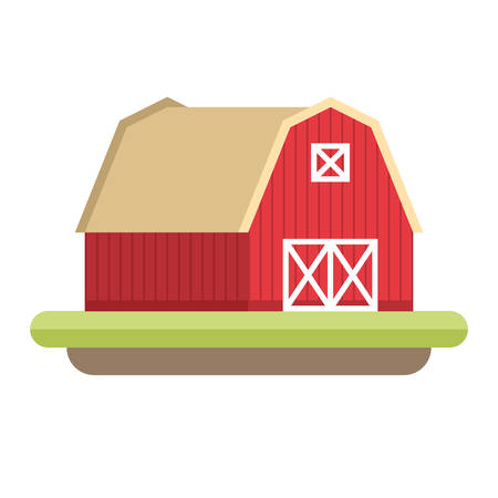 farmhouse: Flat Style Illustration of Farmhouse. Farming concept
