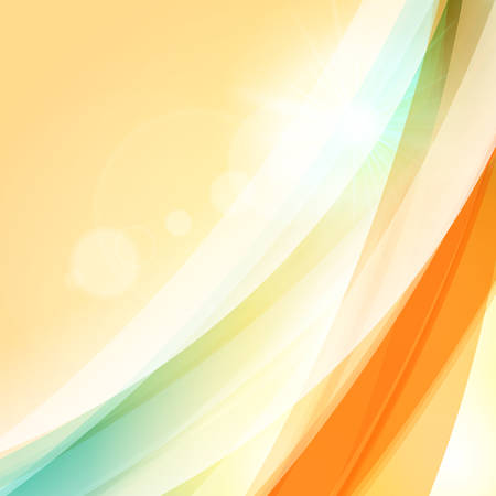 Abstract colorful background. Vector illustration. Summer background. Wave background with light effects
